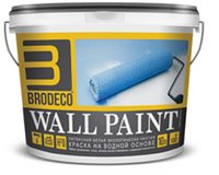 Матовая латексная краска для внутренних работ Brodeco Wall Paint 2,5 л.