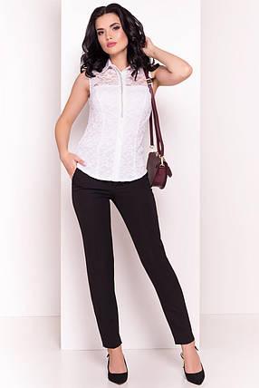 Нежная кружевная женская блуза без рукавов (S, M, L) белая, фото 2