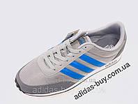 Мужские оригинальные кеды Кроссовки adidas NEO V Racer AW3879 цвет: серый