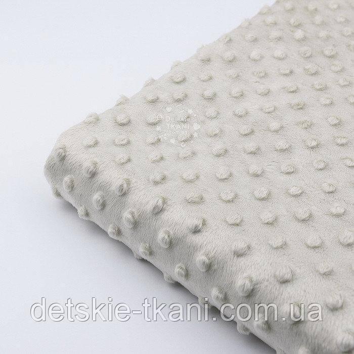 Лоскут плюша minky жемчужно-бежевого цвета М-67, размер 70*155 см