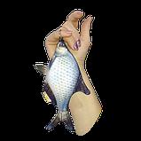 Антистрессовая игрушка Рыба Лещ, полистерольные шарики, фото 2