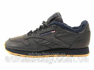 Мужские зимние кроссовки оригинальные Reebok CL LEATHER SHERPA TS BD2922 цвет: синий