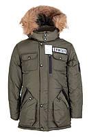 Зимние куртки для мальчиков интернет магазин      34-42 Хаки
