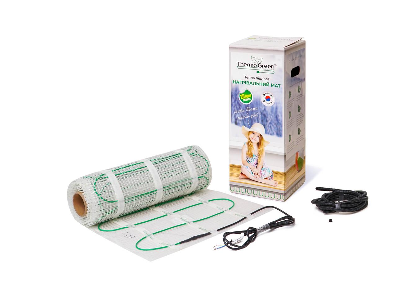 Мат нагревательный экранированный 150 Вт/м.кв  ThermoGreen 1,0 м.кв