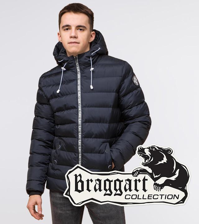 Подросток 13-17 лет | Куртка зимняя Braggart Teenager 76025 сине-черная р. 40 42 44 46