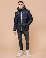 Подросток 13-17 лет | Куртка зимняя Braggart Teenager 76025 сине-черная р. 40 42 44 46, фото 3
