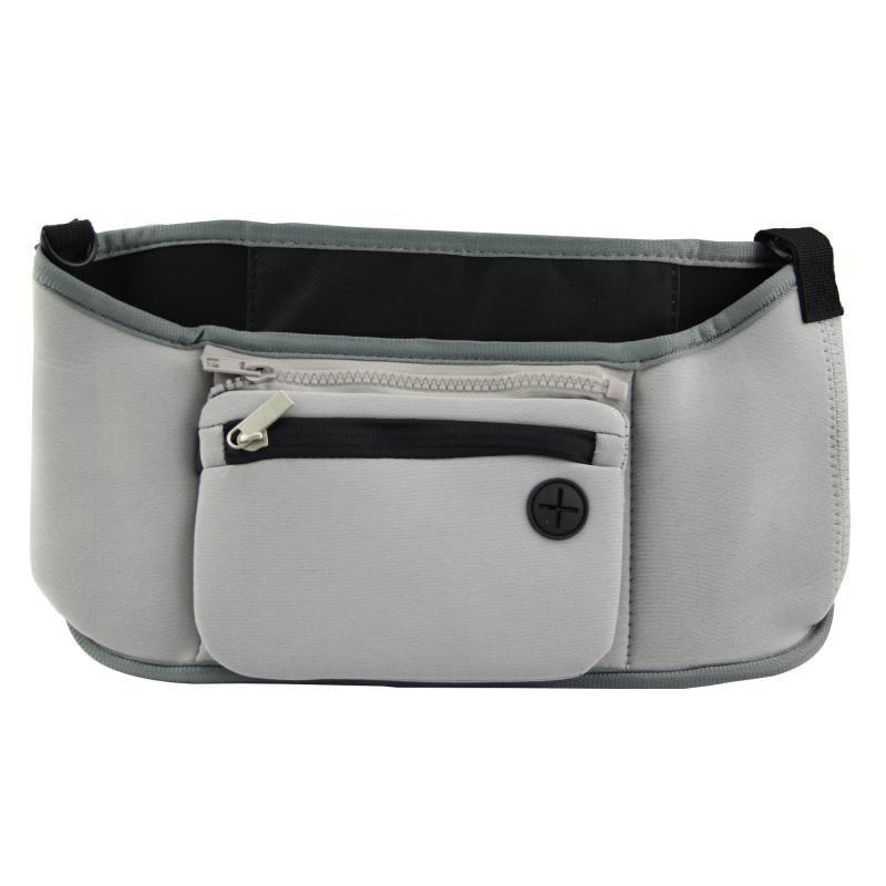 🔝 Органайзер на ручку коляски, сумка чехол, Grab & Go, цвет - серый, сумка на коляску для мамы   🎁%🚚