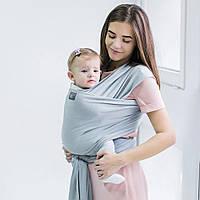Трикотажный слинг-шарф Love & Carry - Серебро