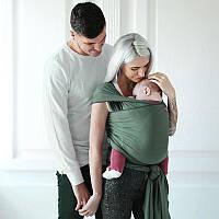 Трикотажный слинг-шарф Love & Carry - Олива