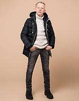 Braggart Kids   Детская зимняя куртка 65028 графит, фото 2
