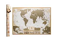 🔝 Скретч карта мира, My Map Antique edition, карта путешествий, ENG | 🎁%🚚