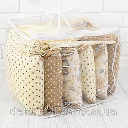 Сумка для упаковки бортиков-подушек с верёвочными ручками,  42*42*42 см