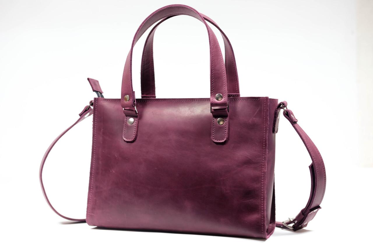 """Женская сумка """"Модель №37"""" Винтажная кожа цвет Бордо"""