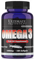 Омега Ultimate Nutrition - Omega 3 1000 мг (180 капсул)