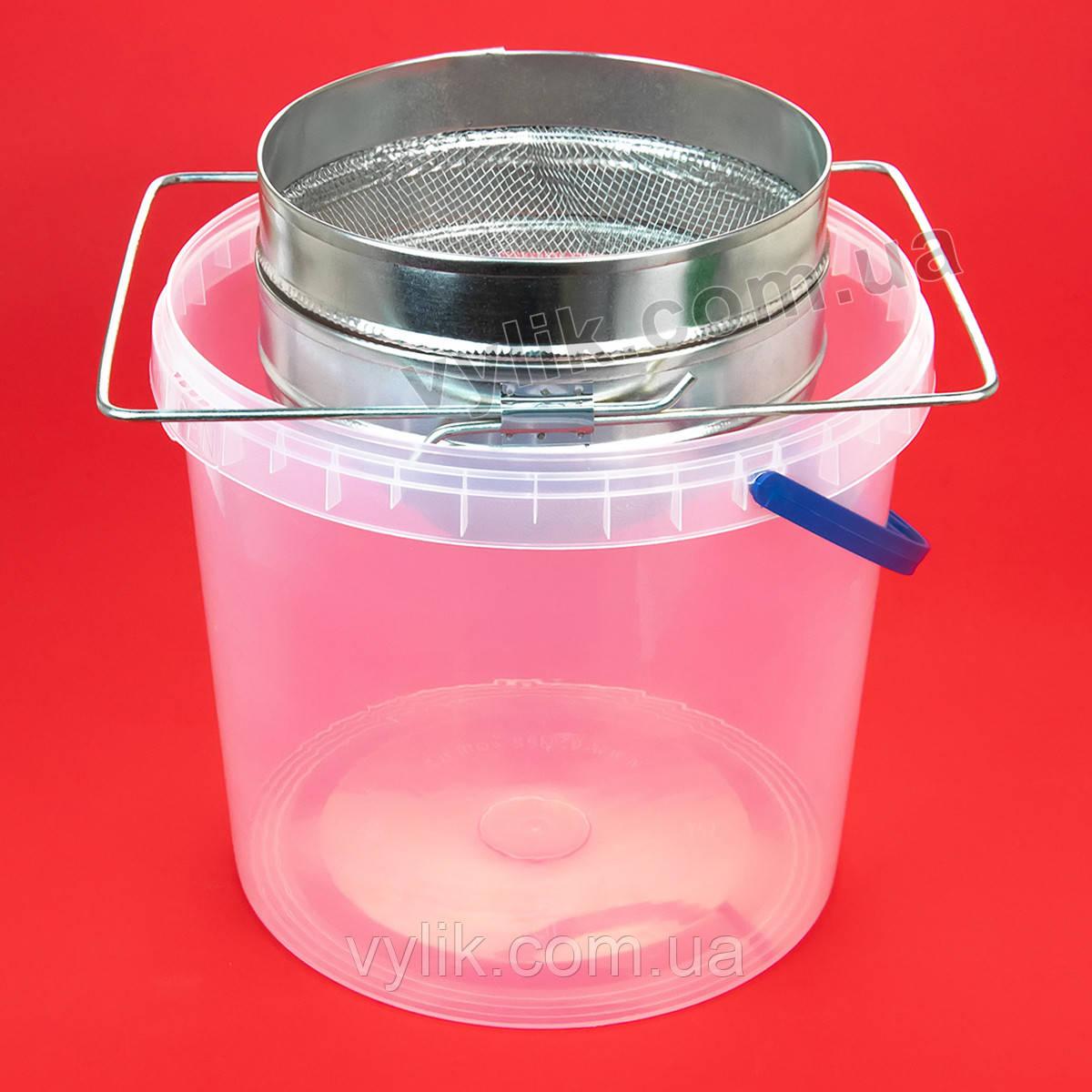 Фильтр с ровной сеткой оцинкованный 20 cм