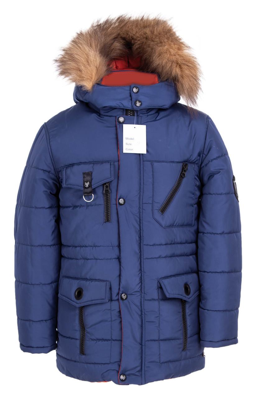 Зимняя куртка для мальчика подростка Украина     34-42 синий