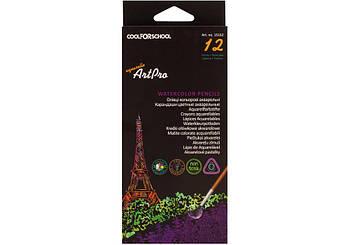 Цветные карандаши 12 цветов, треугольные