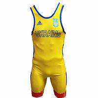 Трико для борьбы Adidas аккредитация UWW желтый 1633REDV2
