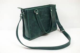 """Женская сумка """"Модель №37"""" Винтажная кожа цвет Зеленый"""