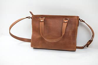 """Женская сумка """"Модель №37"""" Винтажная кожа цвет Коньяк"""