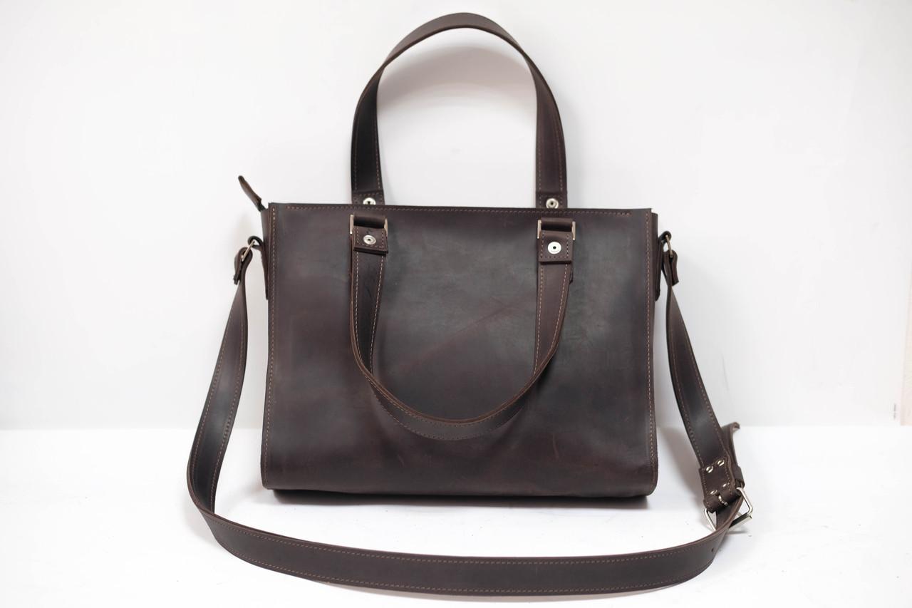 """Женская сумка """"Модель №37"""" Винтажная кожа цвет Шоколад"""