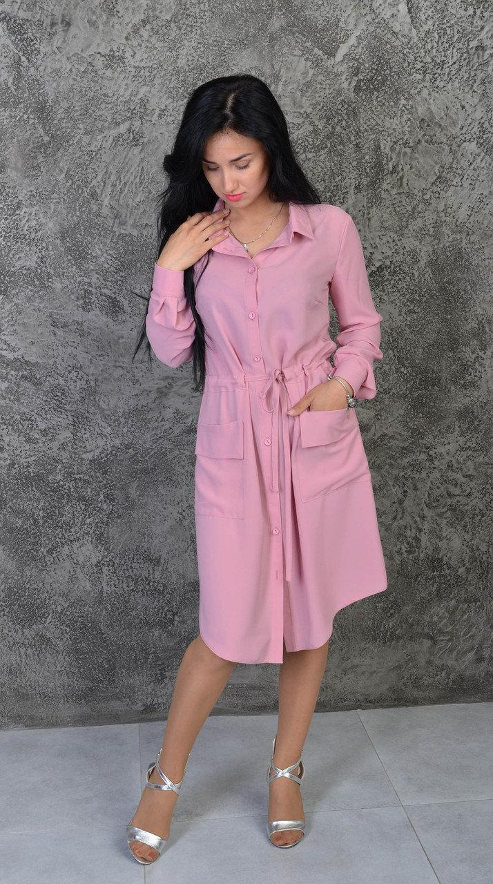 Модне плаття-сорочка пастельних тонів