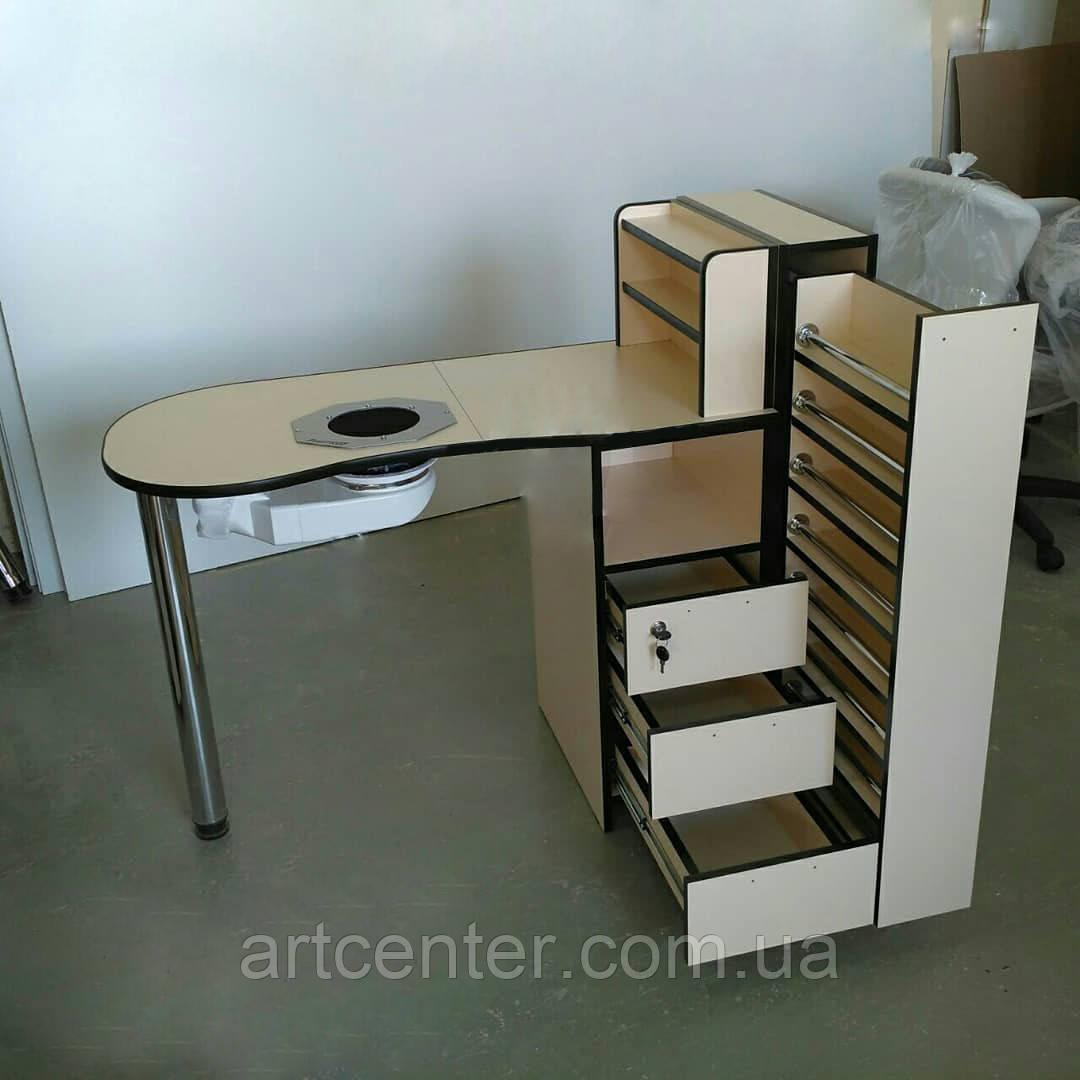 """Стол для маникюра с большим ящиком """"карго"""""""