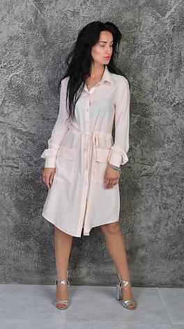 Модне плаття-сорочка пастельних тонів, фото 2