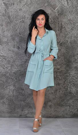 Модне плаття-сорочка пастельних тонів, фото 3