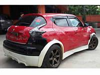 Накладки на пороги для Nissan Juke CT-Sport style, Ниссан Жук СТ-спорт