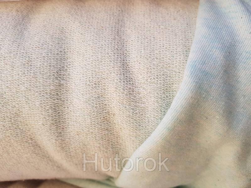 Ткань ТРЕХНИТКА ПЕТЛЯ МЕЛАНЖ (МЯТА)