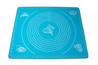 🔝 Коврик для выпечки - силиконовый коврик для раскатки теста и запекания в духовке синего цвета | 🎁%🚚