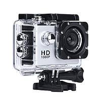 🔝 Экшн камера на шлем, A7 Sports Cam, HD 1080p, налобная видеокамера, для спорта, цвет - серебристый | 🎁%🚚