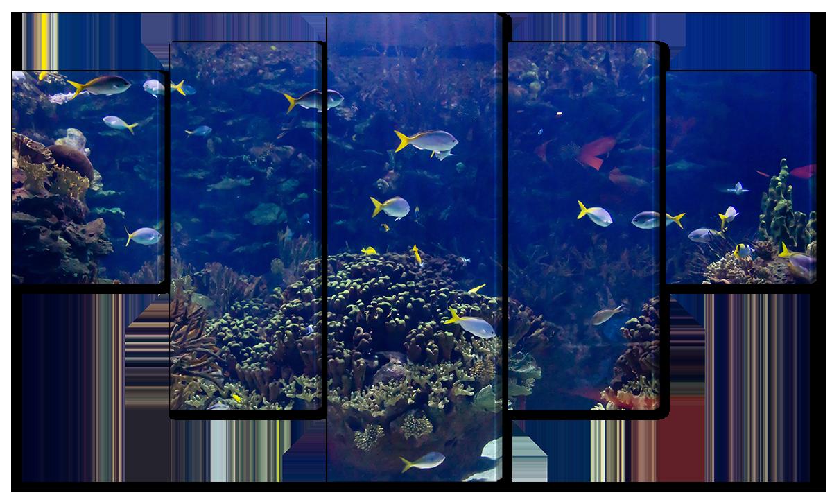 Модульная картина Interno Эко кожа Мир под водой 158х90см (A1571XL)