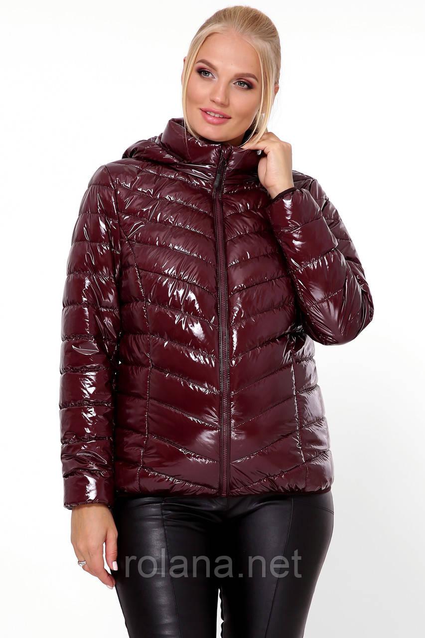 """Яркая женская куртка на молнии. """"Вишня"""""""