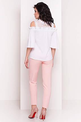 Женская соблазнительная блуза с открытыми плечами (S, M, L) белый, фото 2