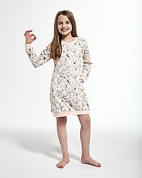 Хлопковая сорочка для девочки 86-128. Польша. Cornette 942/120 POLAR BEAR 3