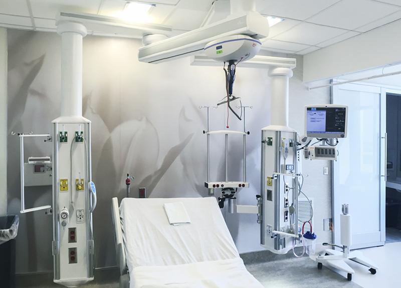 Консоль інтенсивної терапії - вертикальна - одноплечева, Copharm Medical equipment