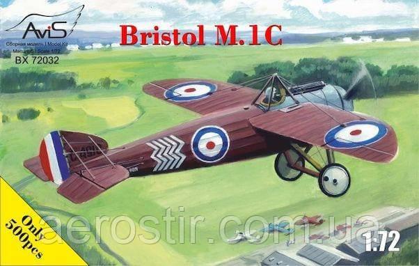 Истребитель Bristol M.1C 1/72 Avis 72032