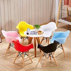 Кресло пластиковое детское на буковых ножках KIDS LEON, детское кресло, стул в детскую, фото 2