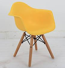 Кресло пластиковое детское на буковых ножках KIDS LEON, детское кресло, стул в детскую, фото 3