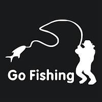 Наклейка рыбак - Go Fishing, фото 1