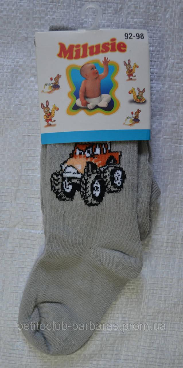 Детские хлопковые колготы с рисунком для мальчиков р. 92-98 см (Brand, Польша)