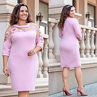 Платье женское с вышивкой батал  гул0010, фото 1