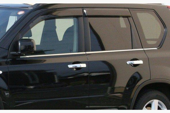 Накладки на ручки 4 шт, 2007-2010, Carmos - Турецкая сталь Nissan X-trail T30 2002-2007 гг.
