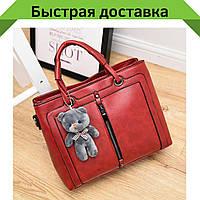 Женские кожаные сумки Красный