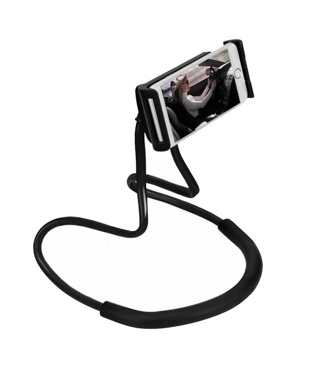 🔝 Гибкий держатель для смартфона универсальный (на шею), Holder Waist Чёрный, подставка для телефона   🎁%🚚