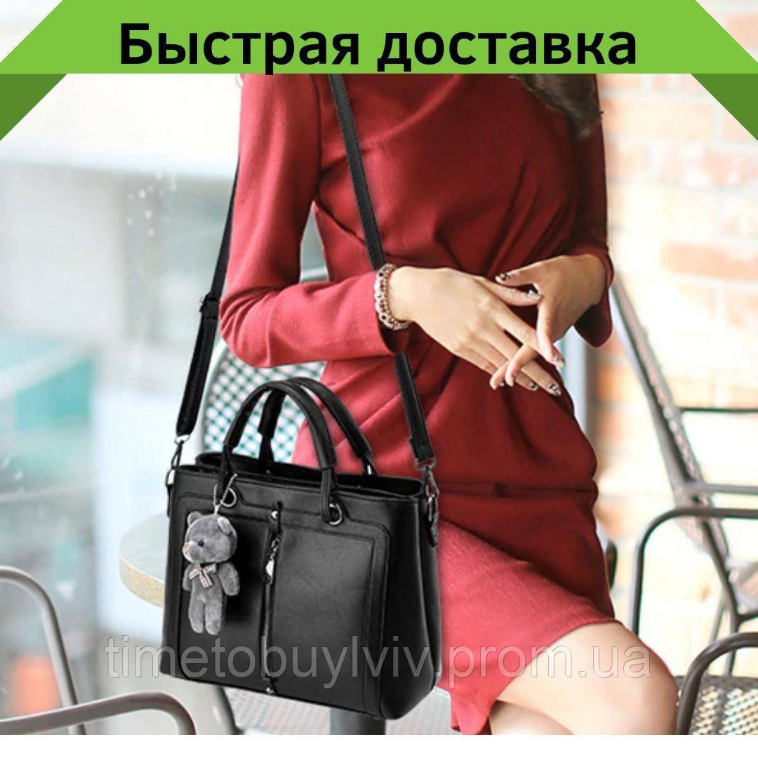 Женские кожаные сумки Черный