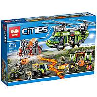 """Конструктор City Lepin 02087 """"Тяжёлый транспортный вертолёт Вулкан"""", 1430 дет, фото 1"""