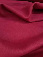 Льняная костюмная ткань вишневого цвета